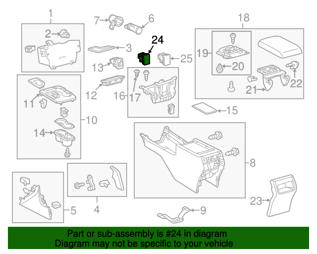 TOYOTA 87501-06010 Seat Heater Control Sub Assembly