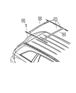 Racks & Carriers, Roof Rack Cross Rails - Mopar (82207950AB)