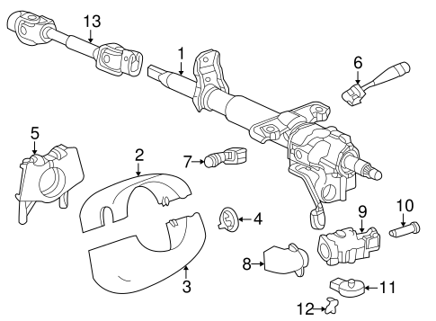 Steering Column Components for 2000 Saturn LS #0