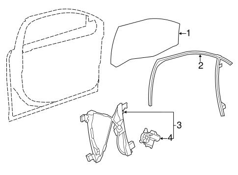 Oem 2013 Buick Verano Front Door Parts