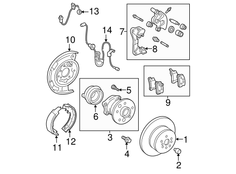 BRAKES/BRAKE COMPONENTS for 2006 Toyota Solara #1