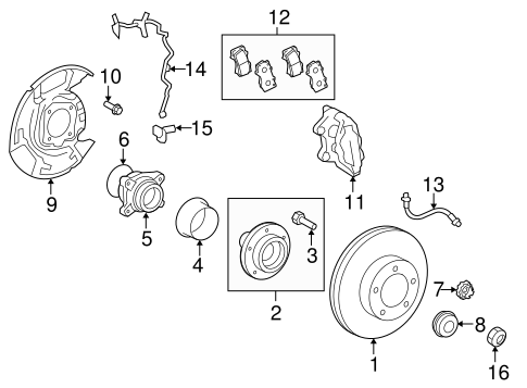 Brake Components for 2009 Toyota Tundra #1