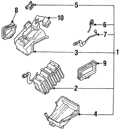Condenser Compressor Lines For 1993 Subaru Loyale