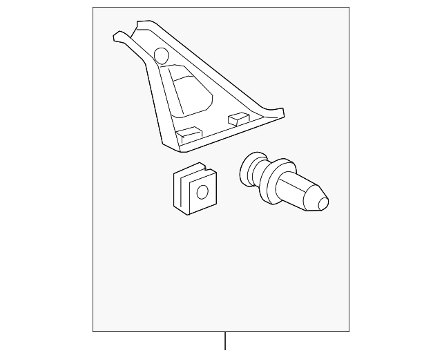 84151-S84-A01ZB Pillar Garnish Assembly Genuine Honda