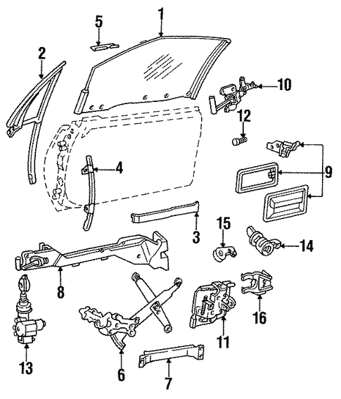 Buick Reatta Door Diagram