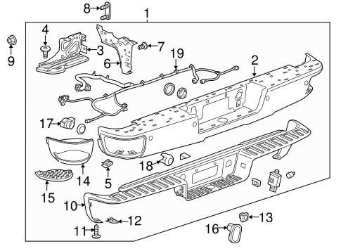 Front Bumper Diagram For A 2008 Chevrolet Silverado Fixya