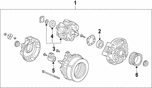 Alternator Assembly (CSJ60) (Denso)