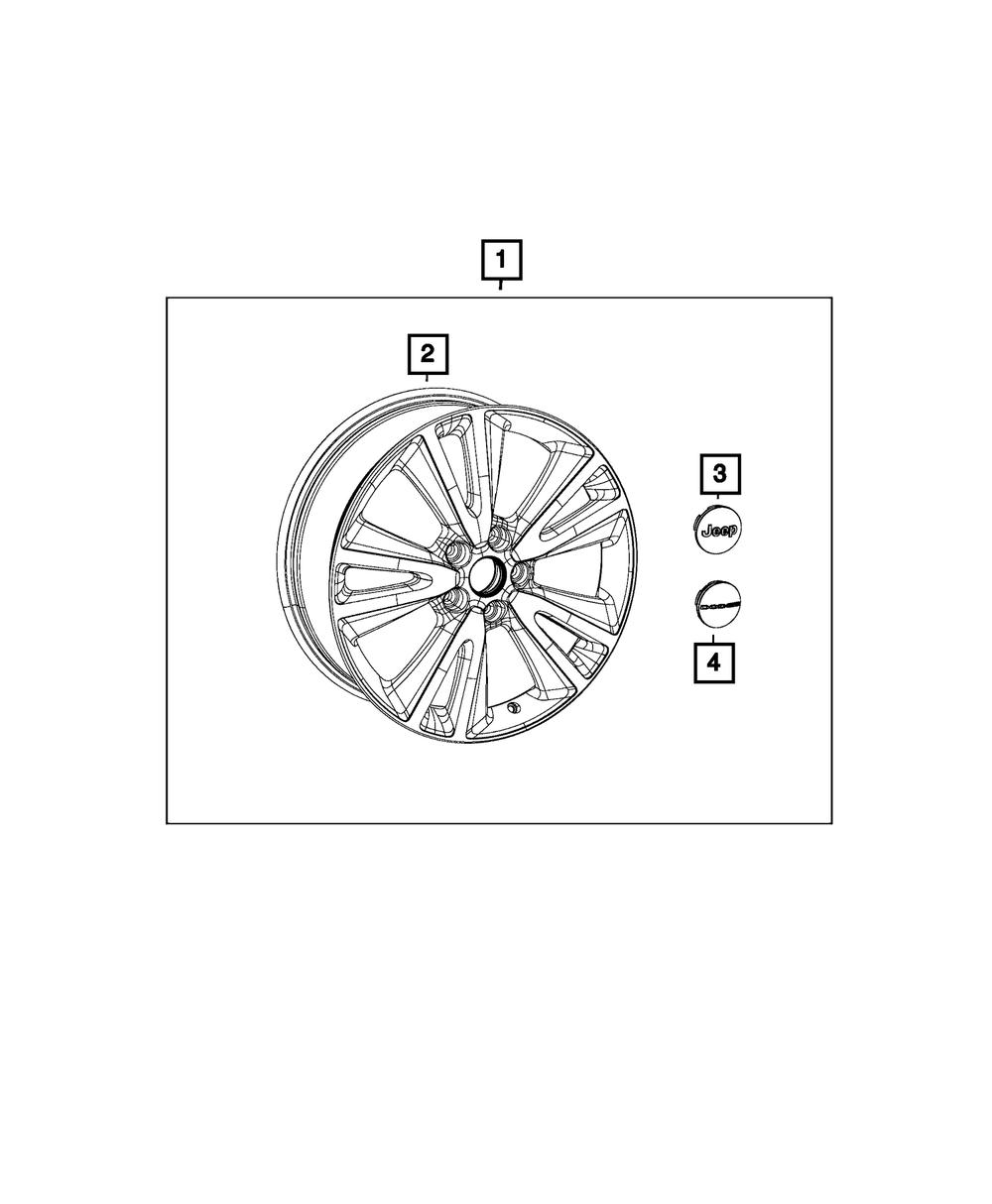 Genuine Chrysler 1LB77SZ0AB Wheel Center Cap