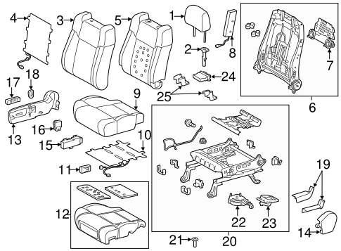 BODY/PASSENGER SEAT COMPONENTS for 2014 Toyota Tundra #2