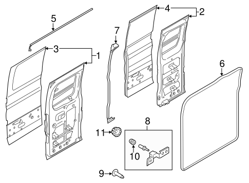 door  u0026 components for 2015 ford transit