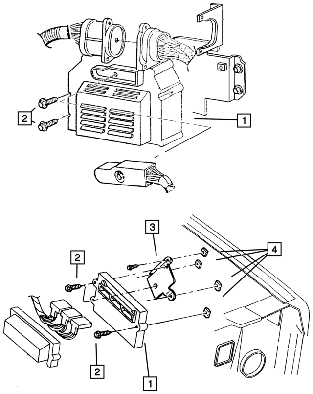 2003 Jeep Liberty Powertrain Control Module Remanufactured