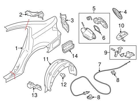 Quarter Panel & Components for 2016 Subaru Legacy #0