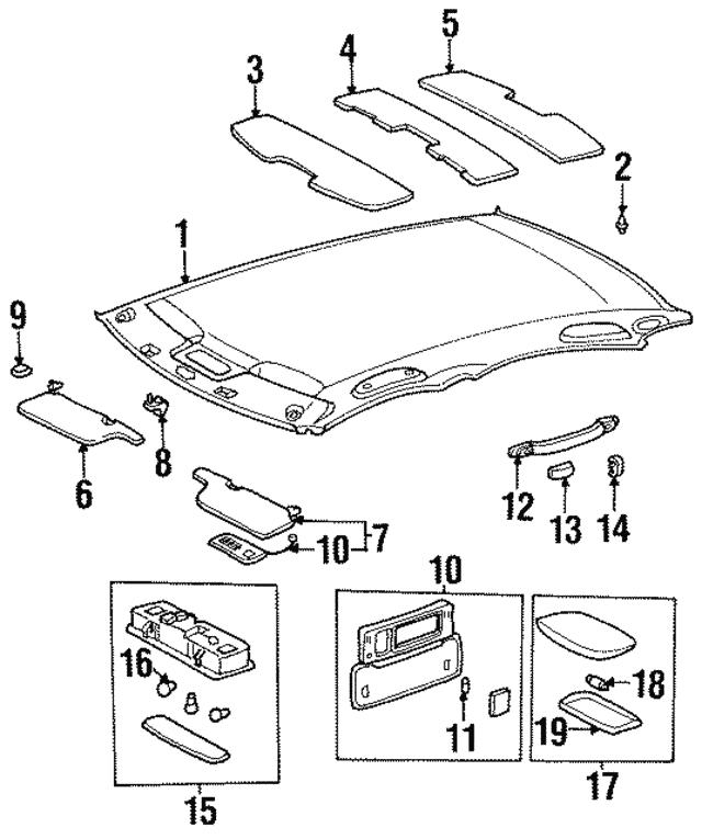 1995 1999 Toyota Avalon Map Lamp Assembly 81260 Ac010 E0