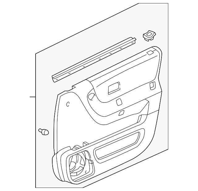 Honda Lining Assembly L Front Door Nh293l Seagull Gray 83580