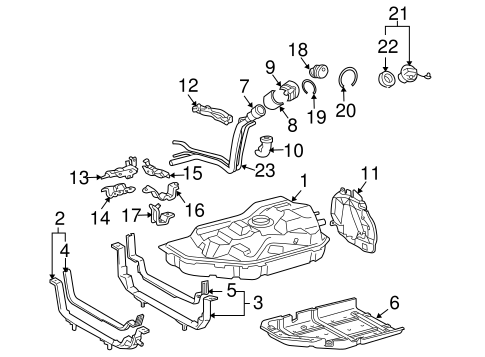 FUEL SYSTEM/FUEL SYSTEM COMPONENTS for 2006 Toyota Highlander #2