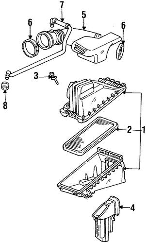 oem air intake for 1997 oldsmobile aurora   gmpartscenter.net oldsmobile aurora wiring diagram #10
