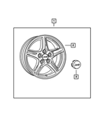 Wheel Kit - Cap, Wheel Center - Mopar (4721717AA)