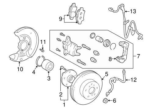 BRAKES/BRAKE COMPONENTS for 2001 Toyota Prius #2