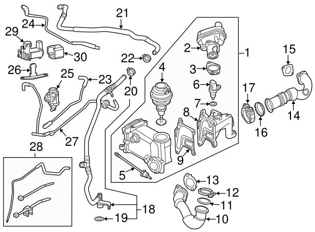 2013 2016 Audi Vacuum Harness 059 131 051 Dj