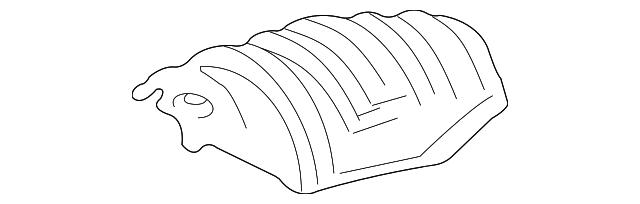 Toyota 58327-52031 Main Muffler Heat Insulator