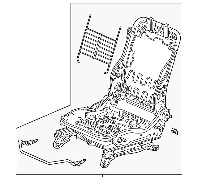 Honda Genuine 82131-T2F-A02ZC Seat Cushion Trim Cover Rear