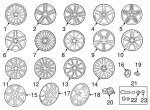 Wheel - Mercedes-Benz (231-401-19-02-7X21)