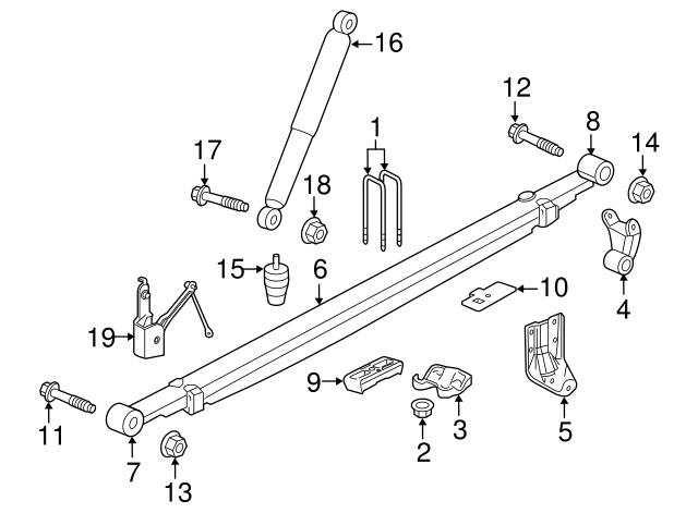 GM OEM Rear Suspension-Shackle 23439871