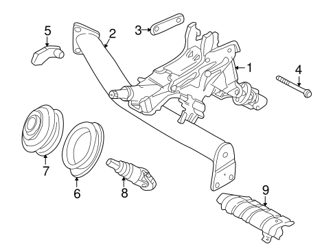 Steering Column Assembly For 1999 Volvo S70