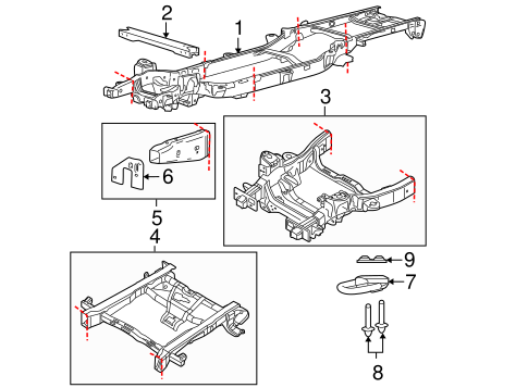 f 150 frame diagram oem 2013 ford f 150 frame   components parts  oem 2013 ford f 150 frame   components