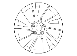 Wheel, Alloy - Infiniti (40300-3JA4B)