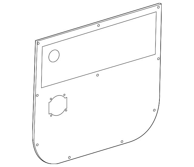 Genuine Mercedes-Benz Quarter Panel Speaker 906-827-01-60