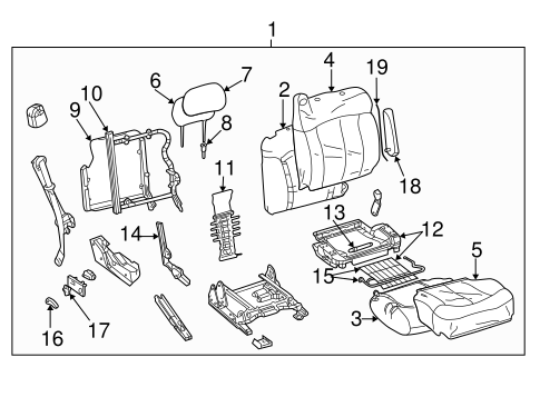 Front Seat Components For 2002 Chevrolet Avalanche 1500 Gmpartsnow