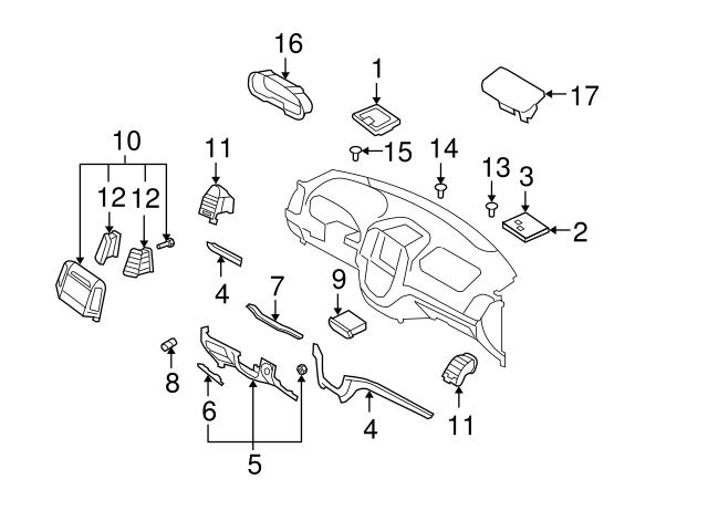 Lower Right Genuine Hyundai 84770-2B000-1C Center Pad Garnish Assembly
