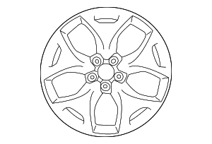 Wheel, Alloy - Subaru (28111SG070)