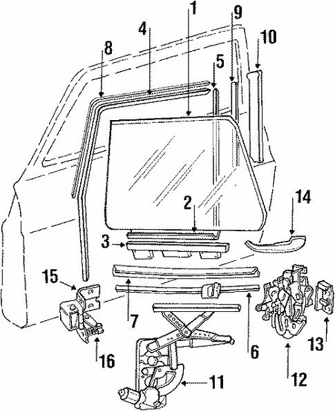 Front Door For 1989 Saab 900