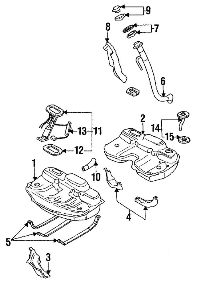 1991 1994 Subaru Legacy Fuel Pump 42021ac024
