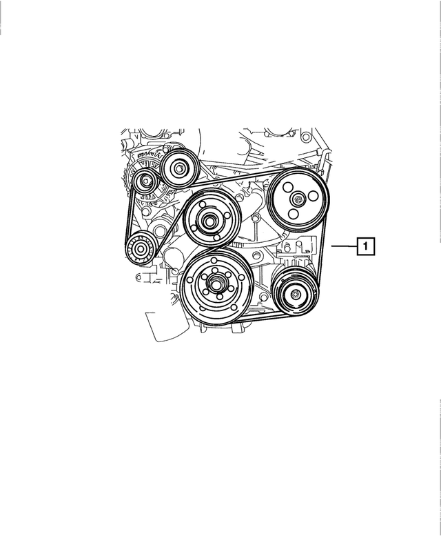 Serpentine Belt - Mopar (5037862AD)