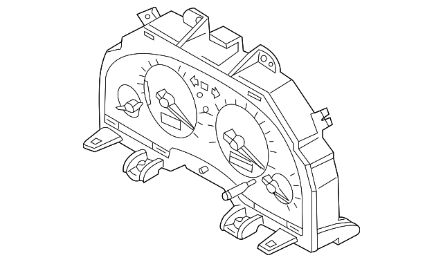 2005 Infiniti G35 Instrument Cluster 24820 Ac701