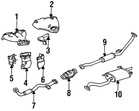 EXHAUST SYSTEM/EXHAUST MANIFOLD for 1996 Toyota Celica #1