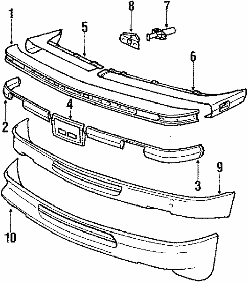 Front Bumper for 1991 BMW 325i #1