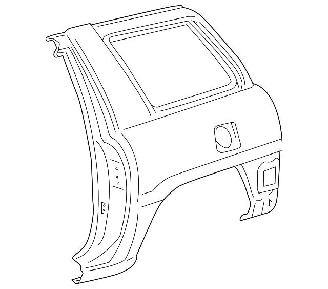 1996 1997 Toyota Rav4 Quarter Panel 61610 42030