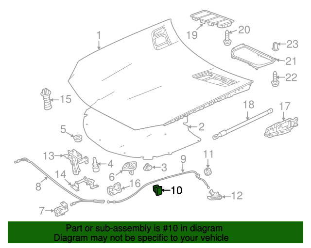 Genuine Mercedes-Benz Release Cable Clamp 003-995-34-77
