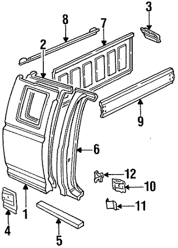 Body/Side Panel for 1997 Ford F-350 #1