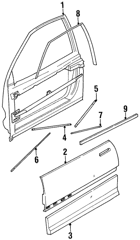 Door Components For 1996 Saturn Sc1
