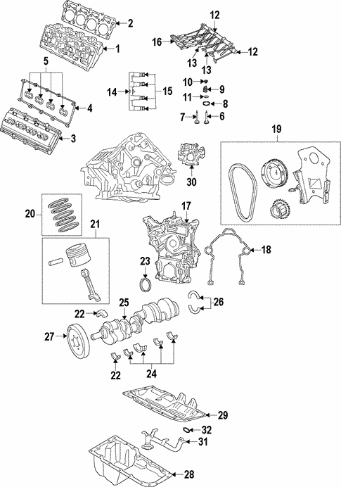engine parts for 2008 jeep grand cherokee