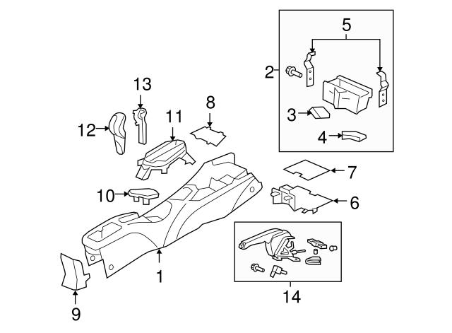2011 Honda Insight Knob Assembly Select Lever Nh167l Graphite