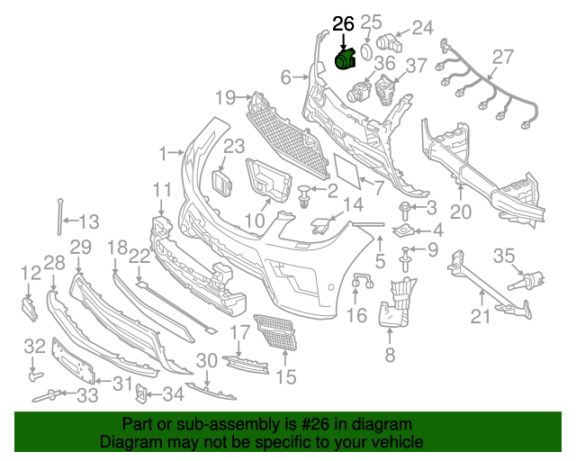 Reverse sensor cover mercedes benz 164 884 81 22 for Mercedes benz parts online shop