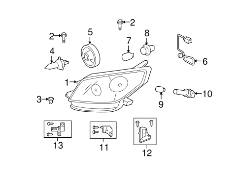 ELECTRICAL/HEADLAMP COMPONENTS for 2013 Scion xD #1
