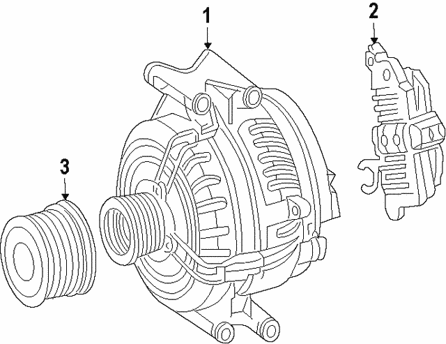 Remanufactured Three-Phase Alternator - Mercedes-Benz (000-906-77-02-80)