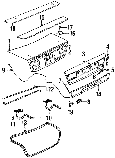 Lid Components For 1996 Saturn Sl2